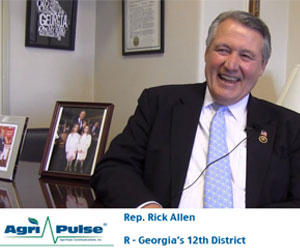 Feature: Republican freshman Rick Allen of Georgia's 12th Congressional District is the newest installment of Meet the Lawmaker. In this video, he talks with Agri-Pulse about his goals for his first term in Congress and something he thinks every member of Congress should have.