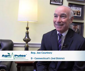 As the first member of the House Ag Committee from Connecticut since 1907, Joe Courtney has an opportunity to work for his district's agricultural interests many of his predecessors didn't. In this interview, he talks with Agri-Pulse's Spencer Chase about the committee's learning curve and Connecticut's GMO labeling bill, the first such legislation in the nation.