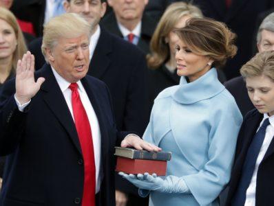 Trump swear in