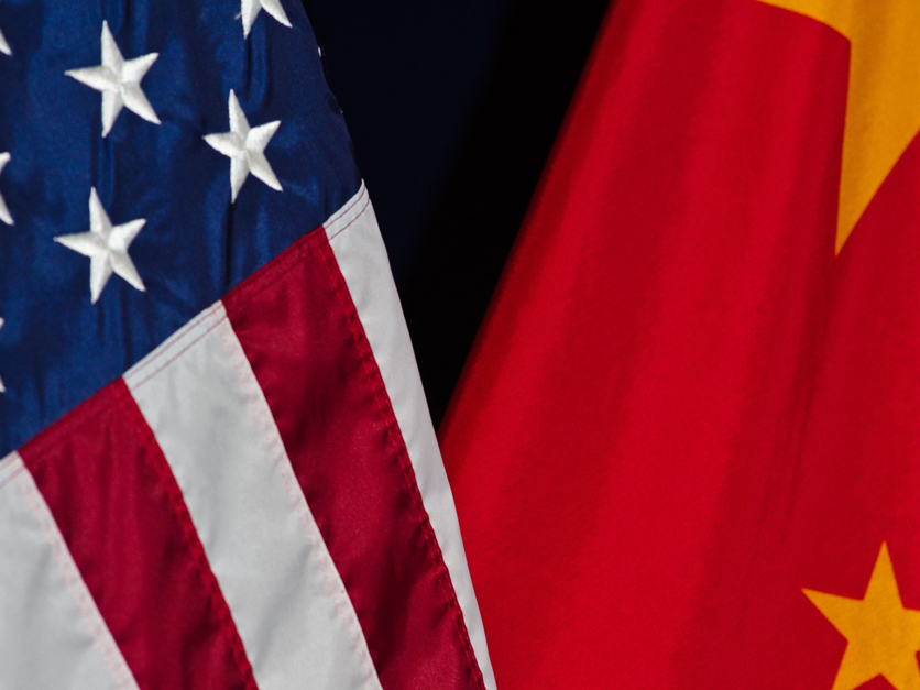 US - China flags