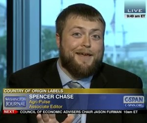 "Feature: Agri-Pulse Associate Editor Spencer Chase was recently a guest on C-SPAN's Washington Journal program discussing the latest in country-of-origin labeling and how the $3.1 billion trade dispute could impact producers and consumers alike. Video courtesy of C-SPAN."" /></a>