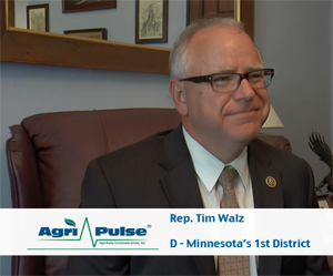 Feature: Minnesota's Tim Walz is one of the top Democrats on the House Agriculture Committee, putting him a position to help shape the next farm bill. In this interview, he talks with Agri-Pulse about his path to Congress, which included a detour to China.