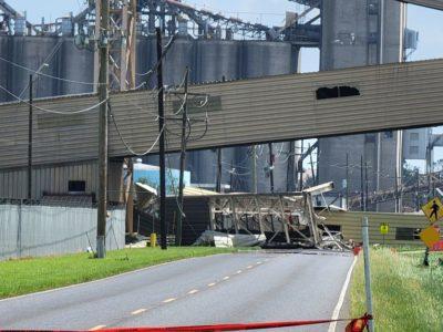 Cargill conveyor damaged (Hurricane Ida)
