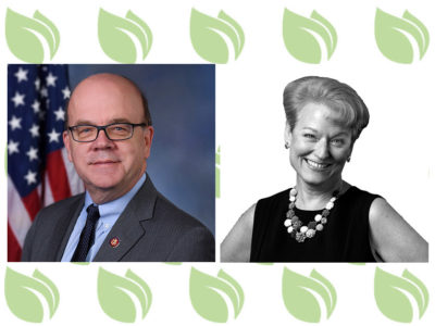 Rep. James P. McGovern, D-Mass., and Barbara Petee with Root Cause Coalition