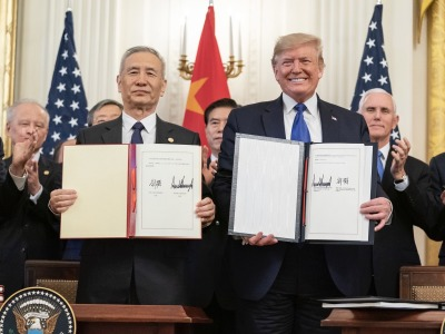 Trump he china trade deal signing